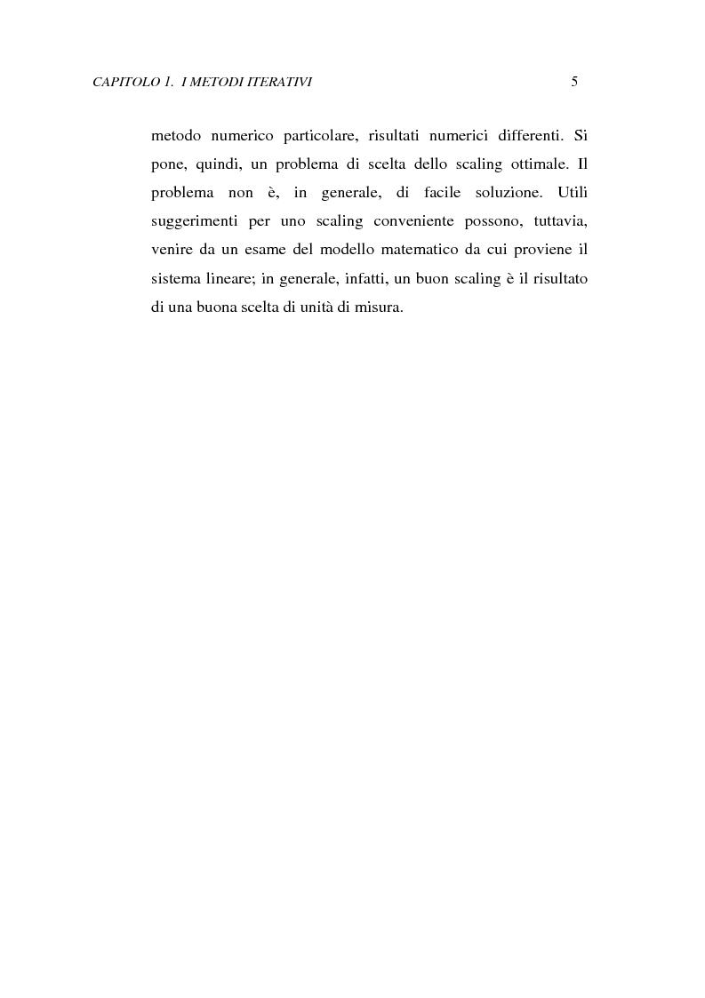Anteprima della tesi: Metodi iterativi per la risoluzione di sistemi di equazioni lineari. Valutazione delle performance attraverso un codice Visual Basic, Pagina 8