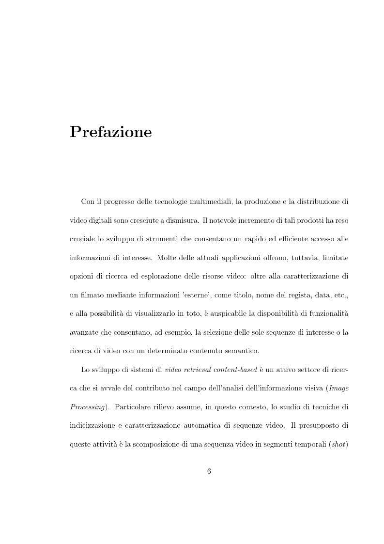 Anteprima della tesi: Uso di tecniche di motion detection per la video segmentazione, Pagina 1