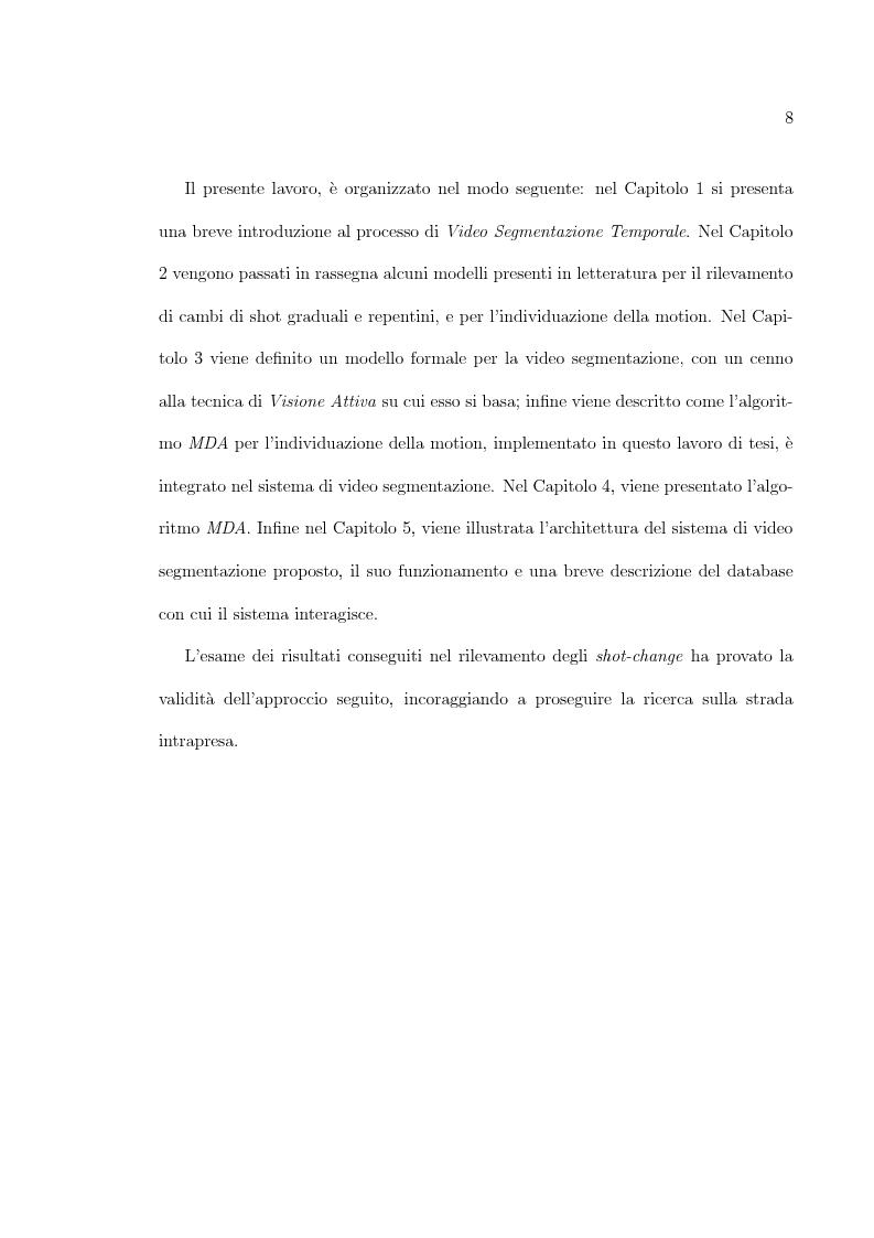 Anteprima della tesi: Uso di tecniche di motion detection per la video segmentazione, Pagina 3