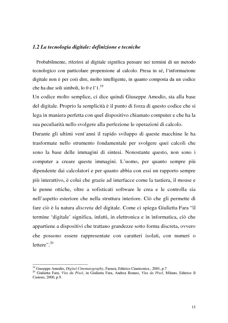 Anteprima della tesi: Influenza delle nuove tecnologie digitali sul cinema contemporaneo, Pagina 12