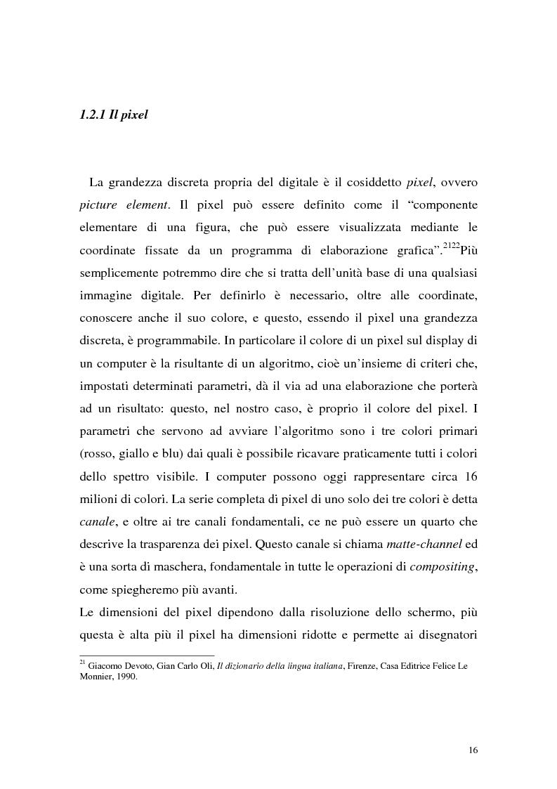 Anteprima della tesi: Influenza delle nuove tecnologie digitali sul cinema contemporaneo, Pagina 13