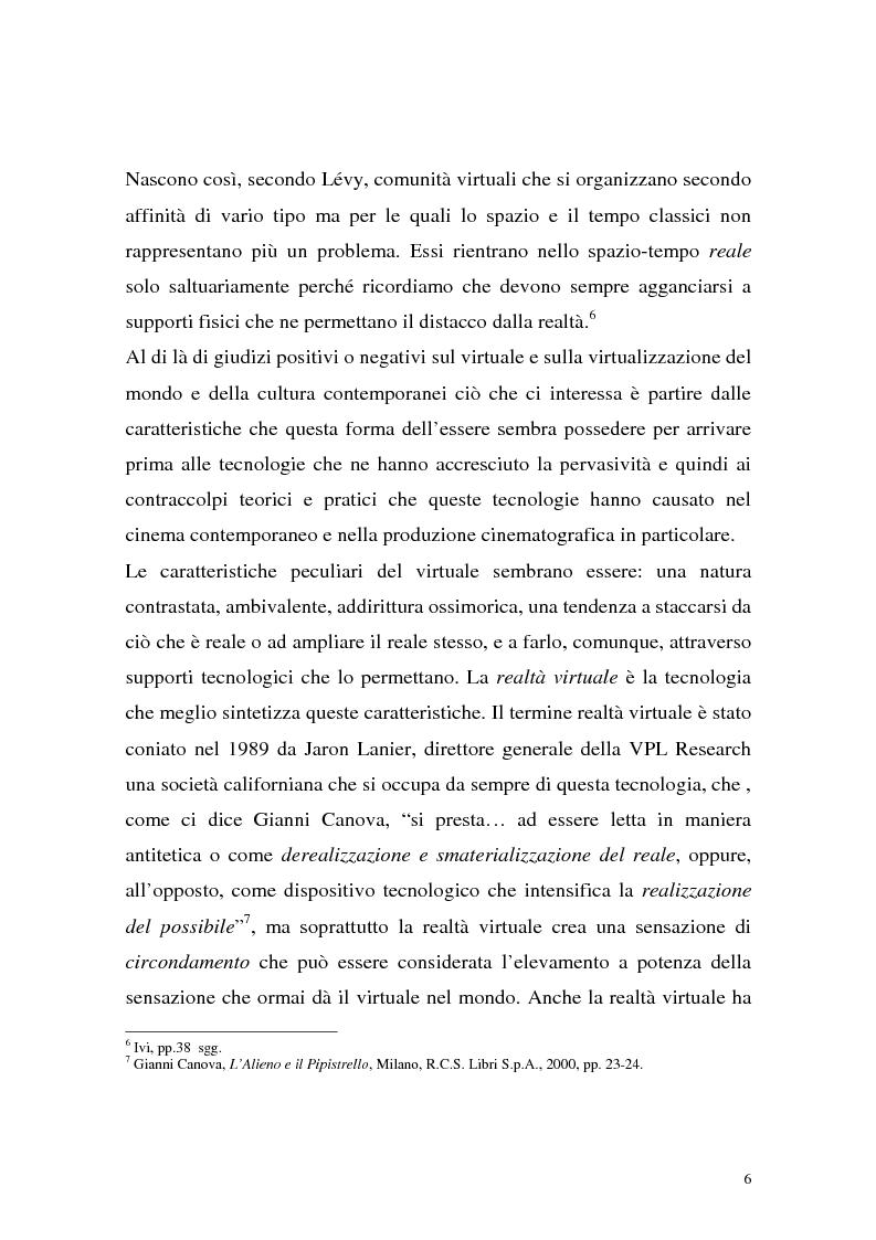 Anteprima della tesi: Influenza delle nuove tecnologie digitali sul cinema contemporaneo, Pagina 3