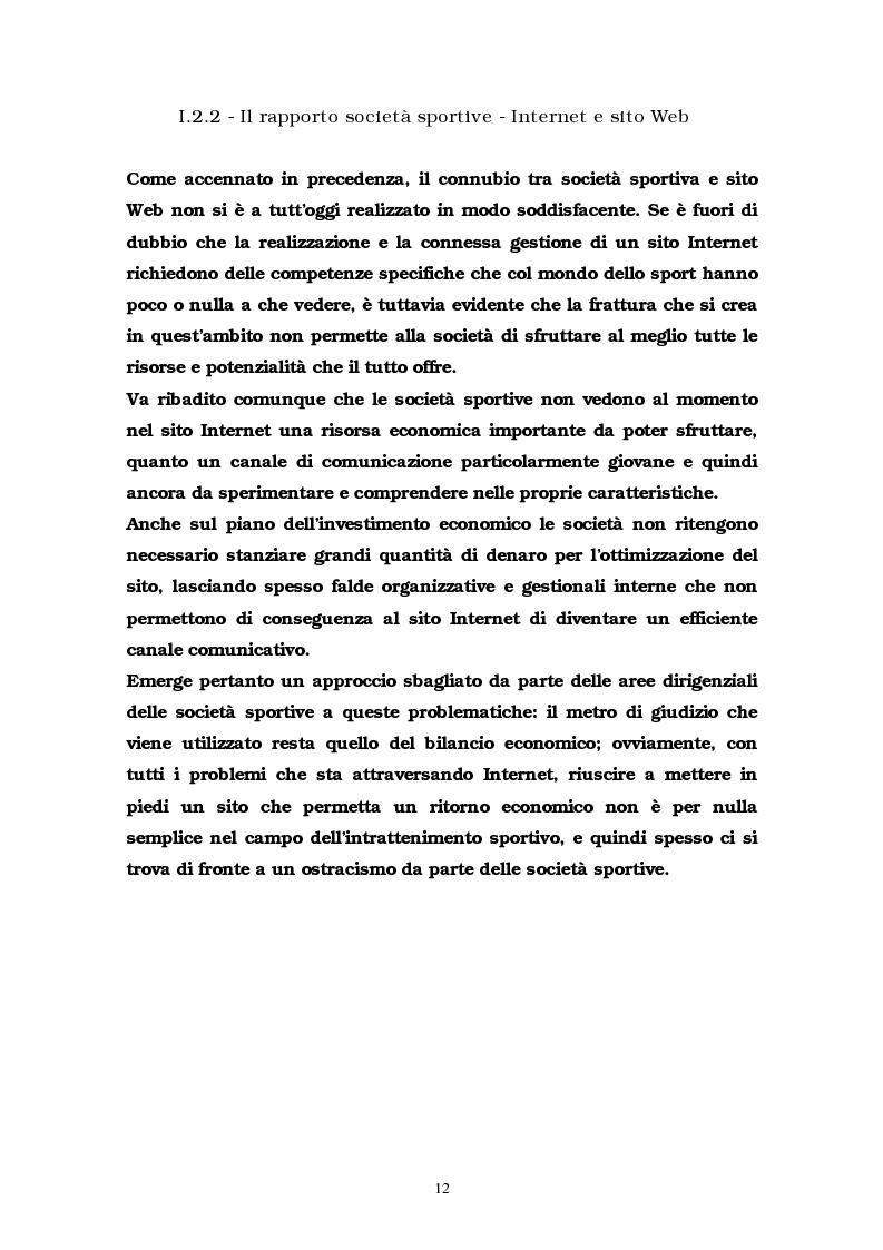 Anteprima della tesi: La comunicazione multimediale nelle società sportive, Pagina 10