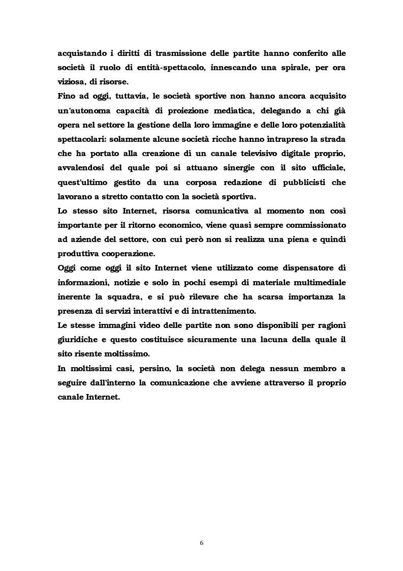 Anteprima della tesi: La comunicazione multimediale nelle società sportive, Pagina 4