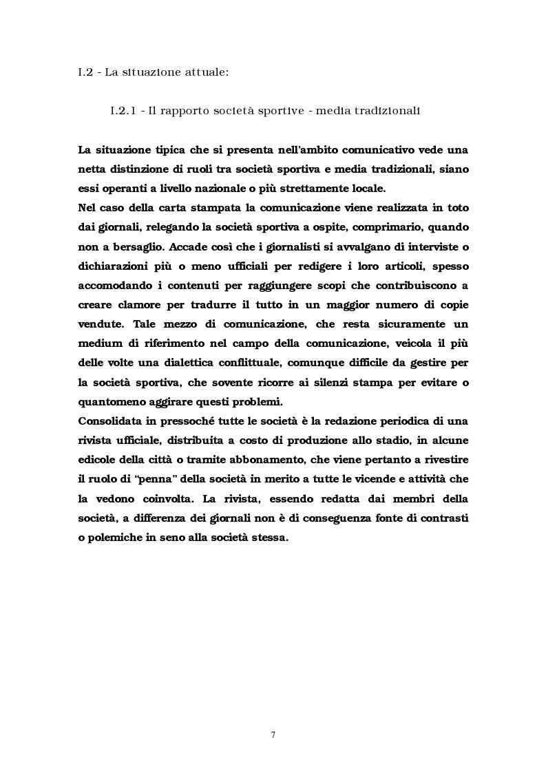 Anteprima della tesi: La comunicazione multimediale nelle società sportive, Pagina 5