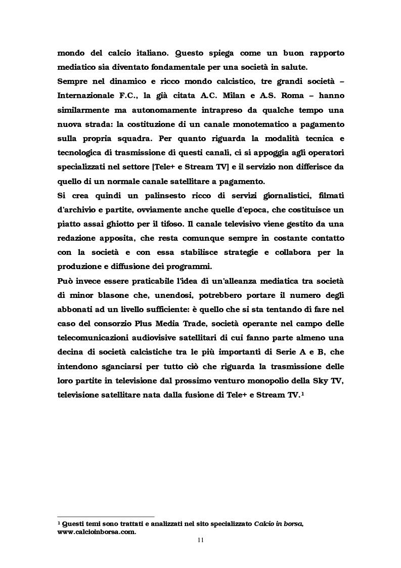 Anteprima della tesi: La comunicazione multimediale nelle società sportive, Pagina 9