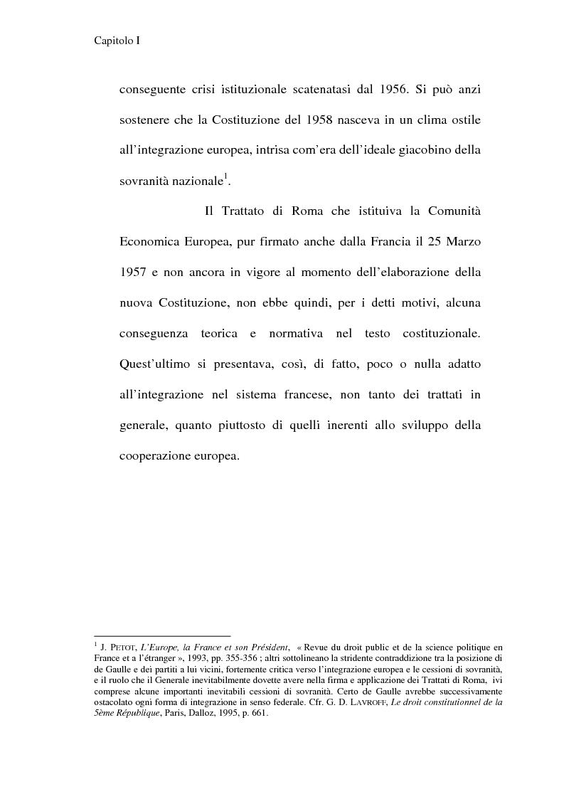 Anteprima della tesi: La Costituzione francese del 1958 e l'Unione europea, Pagina 2