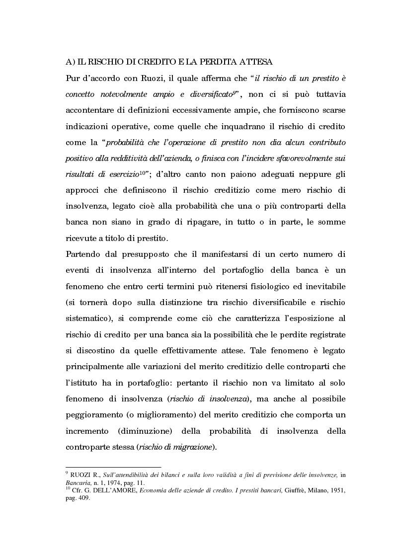 Anteprima della tesi: Profili evolutivi della valutazione e della rappresentazione dei crediti nei conti e nel bilancio delle banche. Aspetti normativi, regolamentazione di Basilea e principi contabili internazionali, Pagina 10
