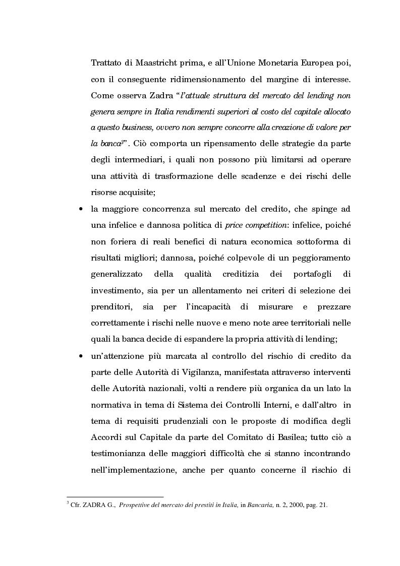 Anteprima della tesi: Profili evolutivi della valutazione e della rappresentazione dei crediti nei conti e nel bilancio delle banche. Aspetti normativi, regolamentazione di Basilea e principi contabili internazionali, Pagina 4