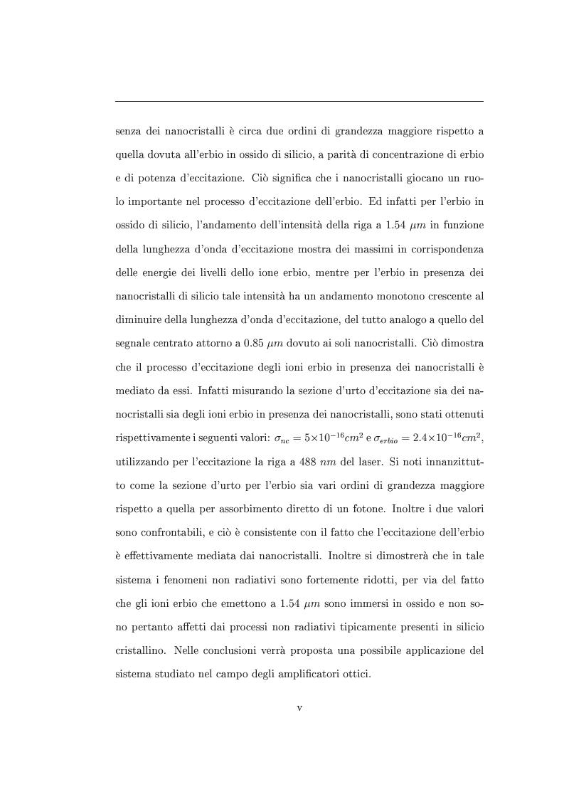 Anteprima della tesi: Interazione tra nanocristalli di silicio e ioni Er, Pagina 5