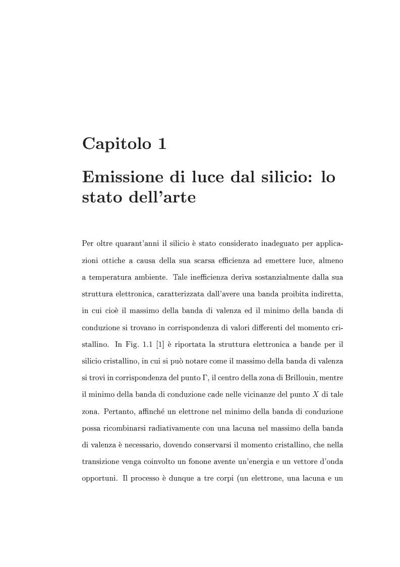 Anteprima della tesi: Interazione tra nanocristalli di silicio e ioni Er, Pagina 6