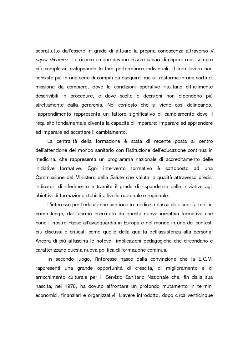 Anteprima della tesi: Formazione continua nella sanità: il programma di educazione continua in sanità, Pagina 2