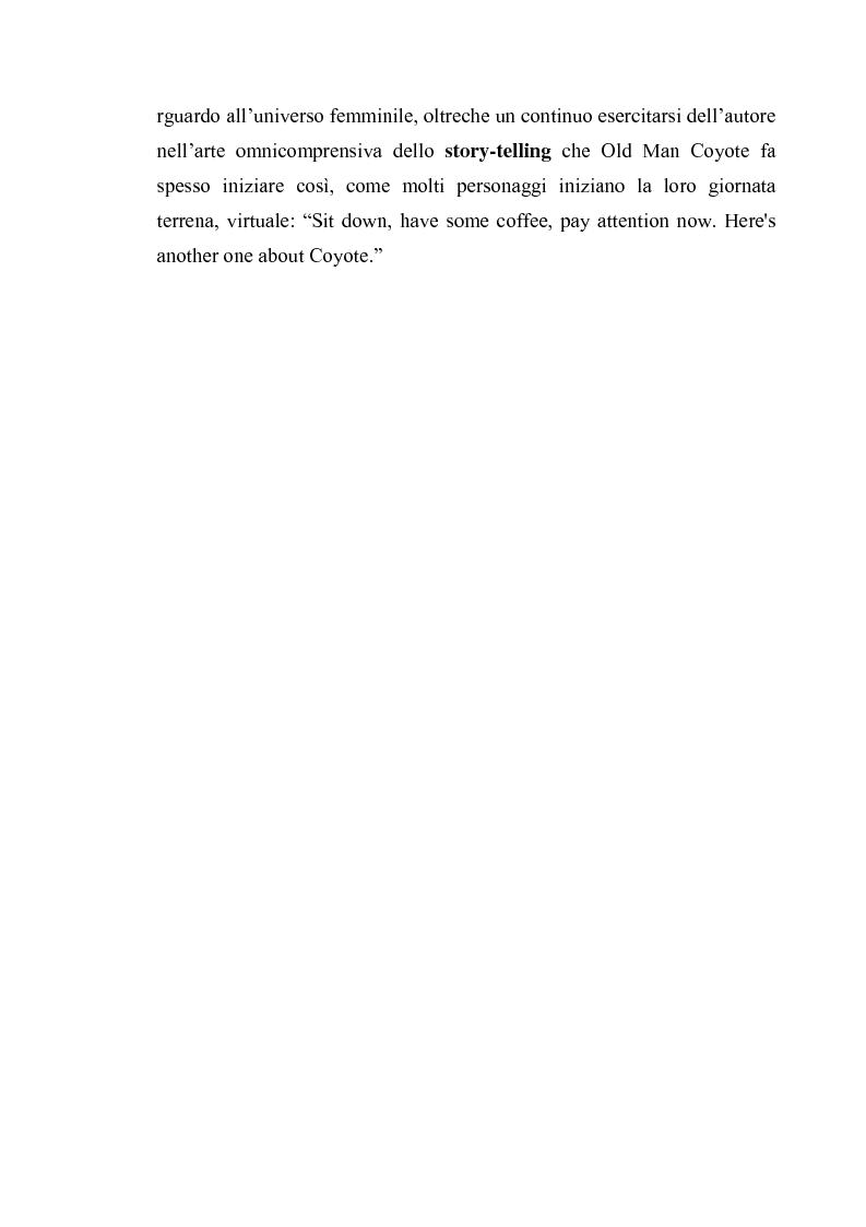Anteprima della tesi: Thomas King, Green Grass Running Water. Traduzione e commento testuale, Pagina 11