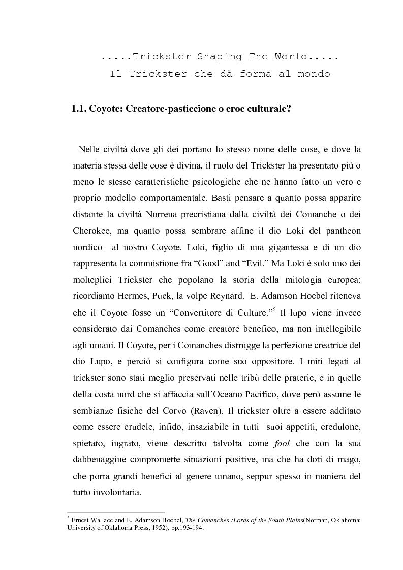Anteprima della tesi: Thomas King, Green Grass Running Water. Traduzione e commento testuale, Pagina 7