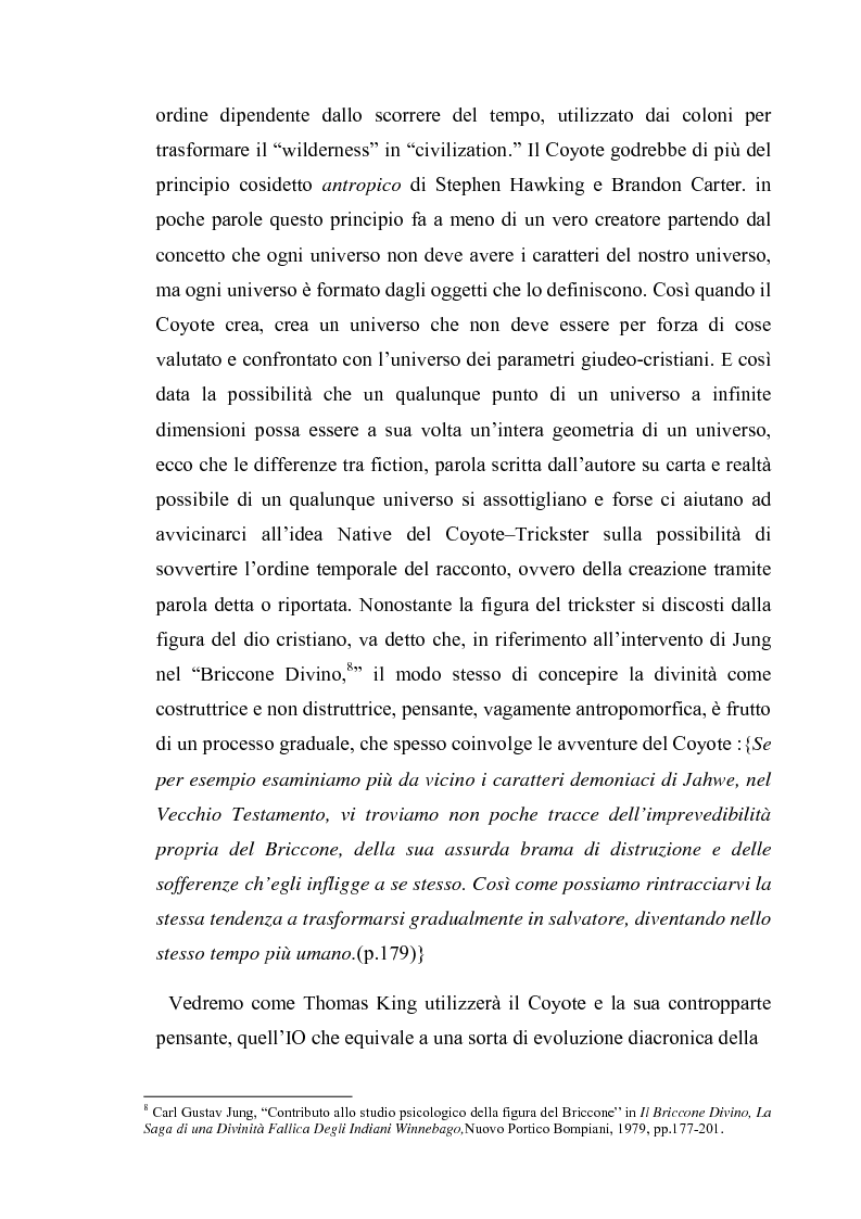 Anteprima della tesi: Thomas King, Green Grass Running Water. Traduzione e commento testuale, Pagina 9