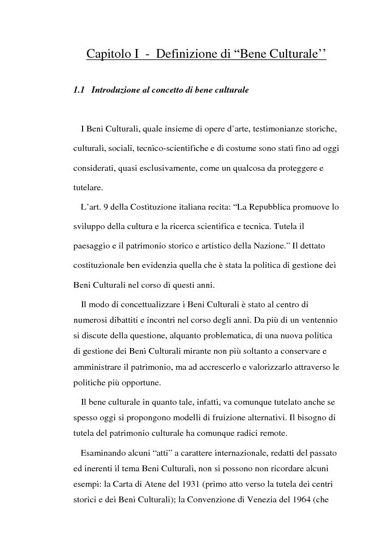Anteprima della tesi: Il diritto di prelazione artistica, Pagina 1