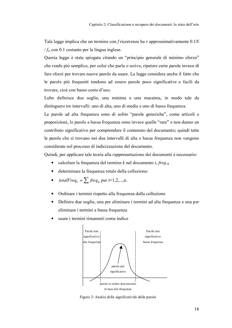 Anteprima della tesi: Sistema di classificazione e recupero dei documenti basato sul linguaggio naturale, Pagina 15