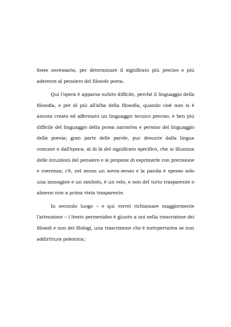 Anteprima della tesi: Indice e lessico parmenideo, Pagina 2