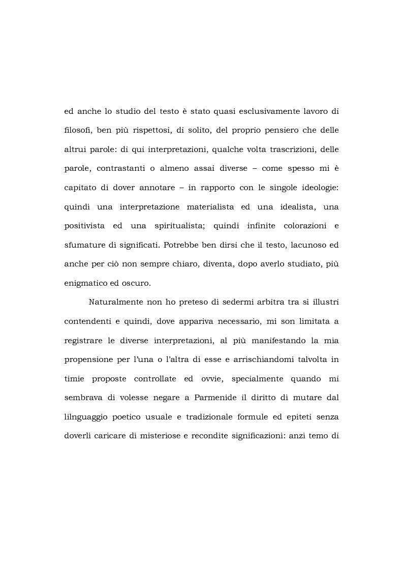 Anteprima della tesi: Indice e lessico parmenideo, Pagina 3
