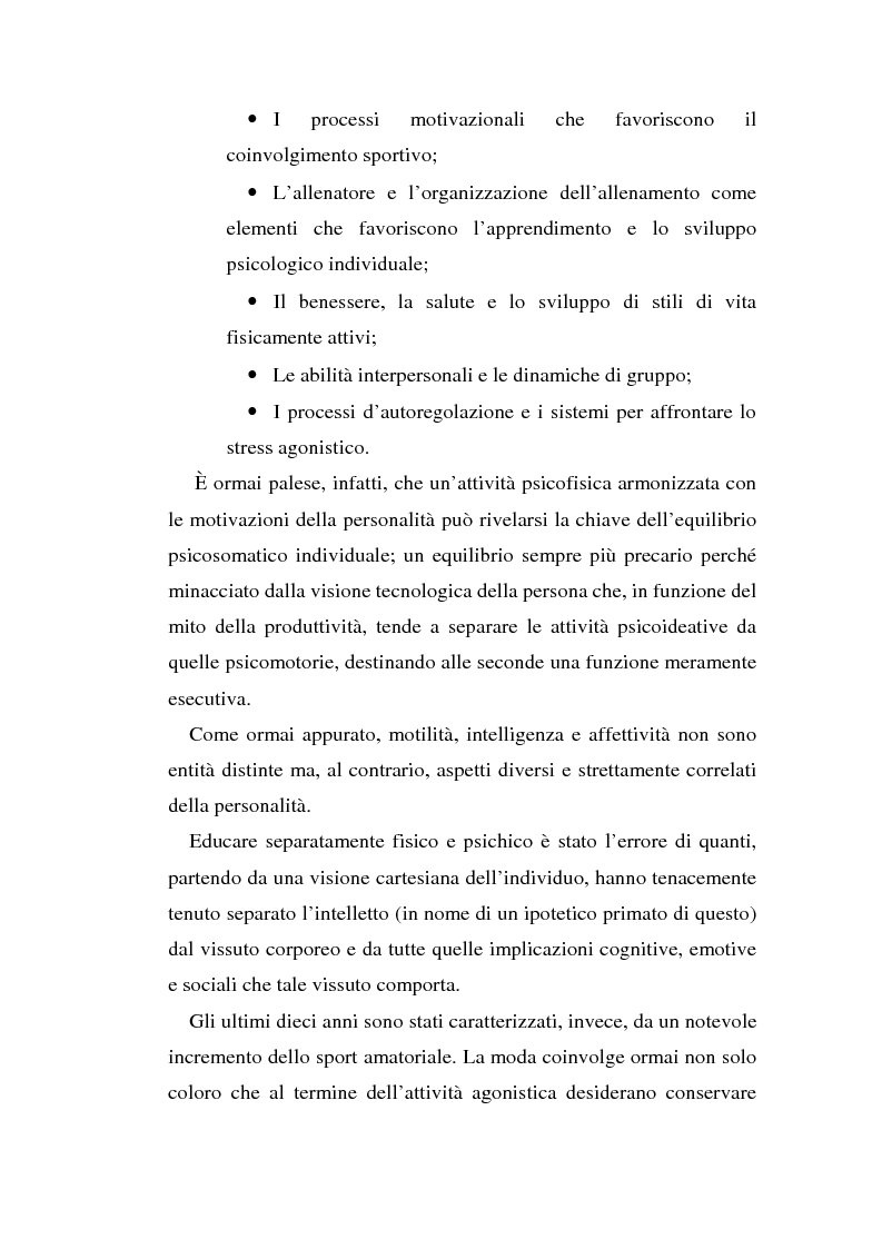 Anteprima della tesi: Relazioni sociali e immagine di sè: aspetti psicologici nella ginnastica artistica agonistica, Pagina 8