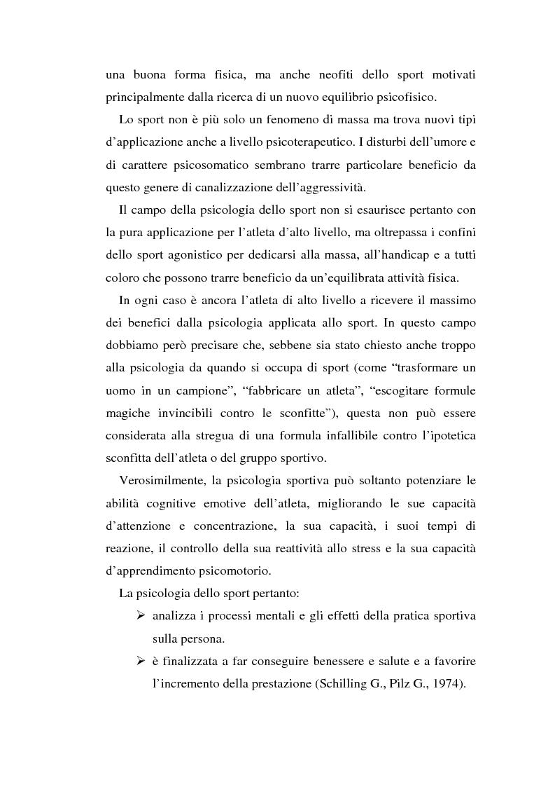 Anteprima della tesi: Relazioni sociali e immagine di sè: aspetti psicologici nella ginnastica artistica agonistica, Pagina 9
