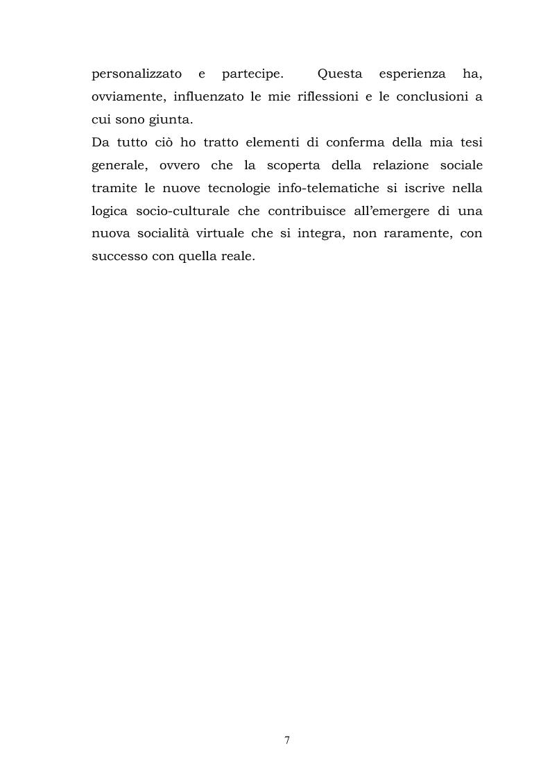 Anteprima della tesi: La costruzione della socialità online: il caso di Atlantide e C6, Pagina 7