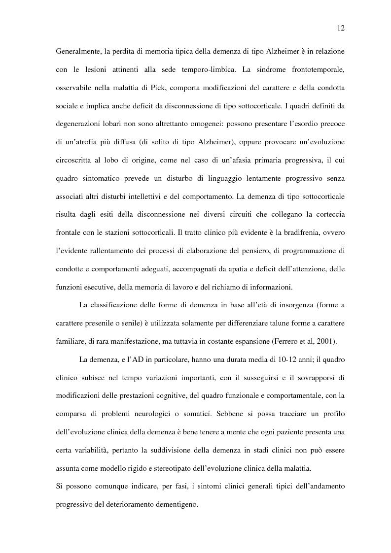Anteprima della tesi: Deficit di aggiornamento della memoria di lavoro nel deterioramento cognitivo lieve, Pagina 10