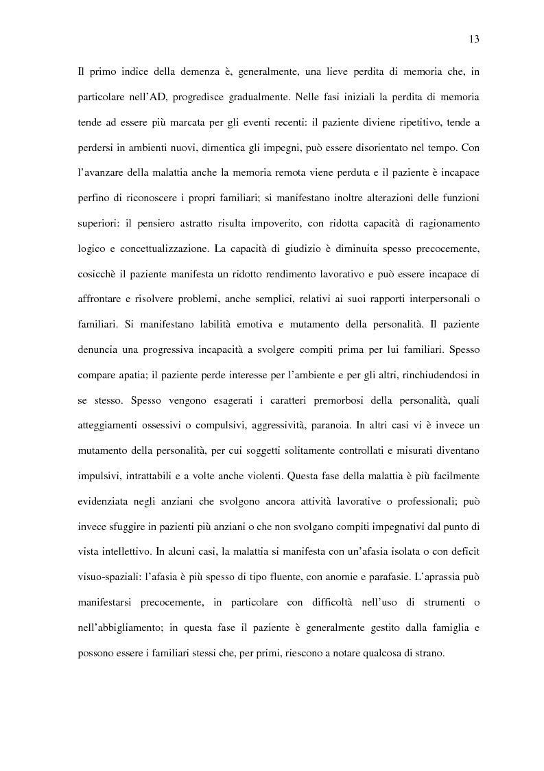 Anteprima della tesi: Deficit di aggiornamento della memoria di lavoro nel deterioramento cognitivo lieve, Pagina 11