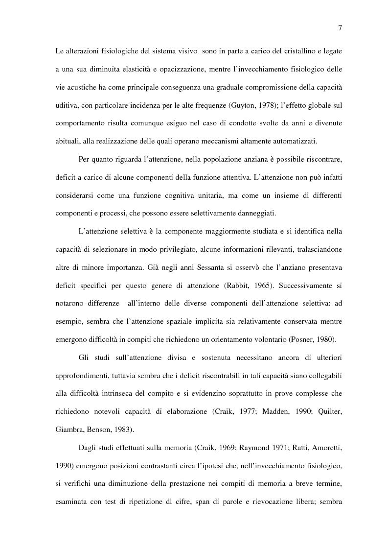 Anteprima della tesi: Deficit di aggiornamento della memoria di lavoro nel deterioramento cognitivo lieve, Pagina 5