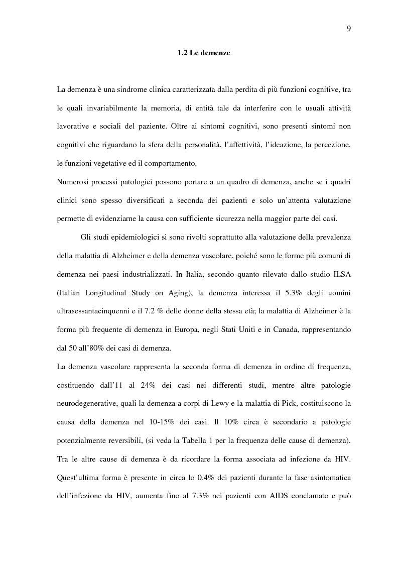 Anteprima della tesi: Deficit di aggiornamento della memoria di lavoro nel deterioramento cognitivo lieve, Pagina 7