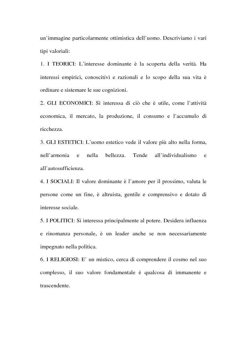 Anteprima della tesi: I valori e il processo decisionale nelle organizzazioni, Pagina 15