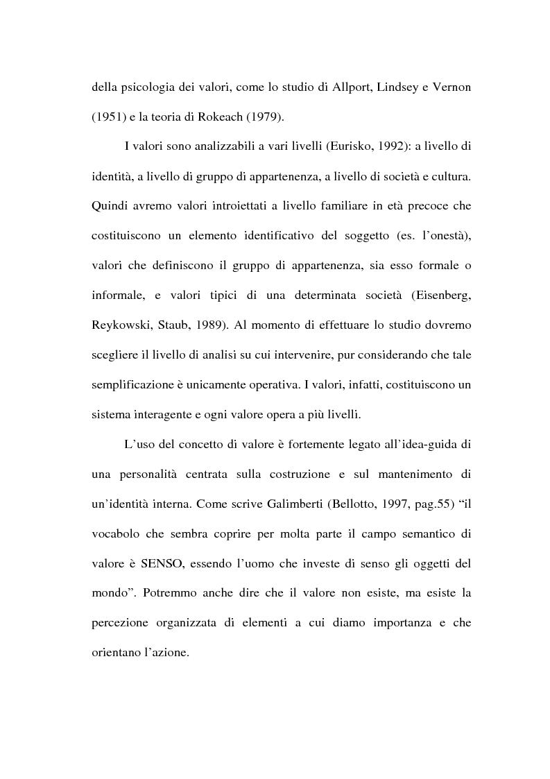 Anteprima della tesi: I valori e il processo decisionale nelle organizzazioni, Pagina 8