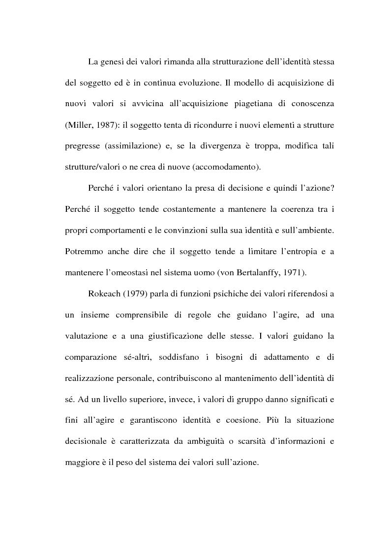 Anteprima della tesi: I valori e il processo decisionale nelle organizzazioni, Pagina 9