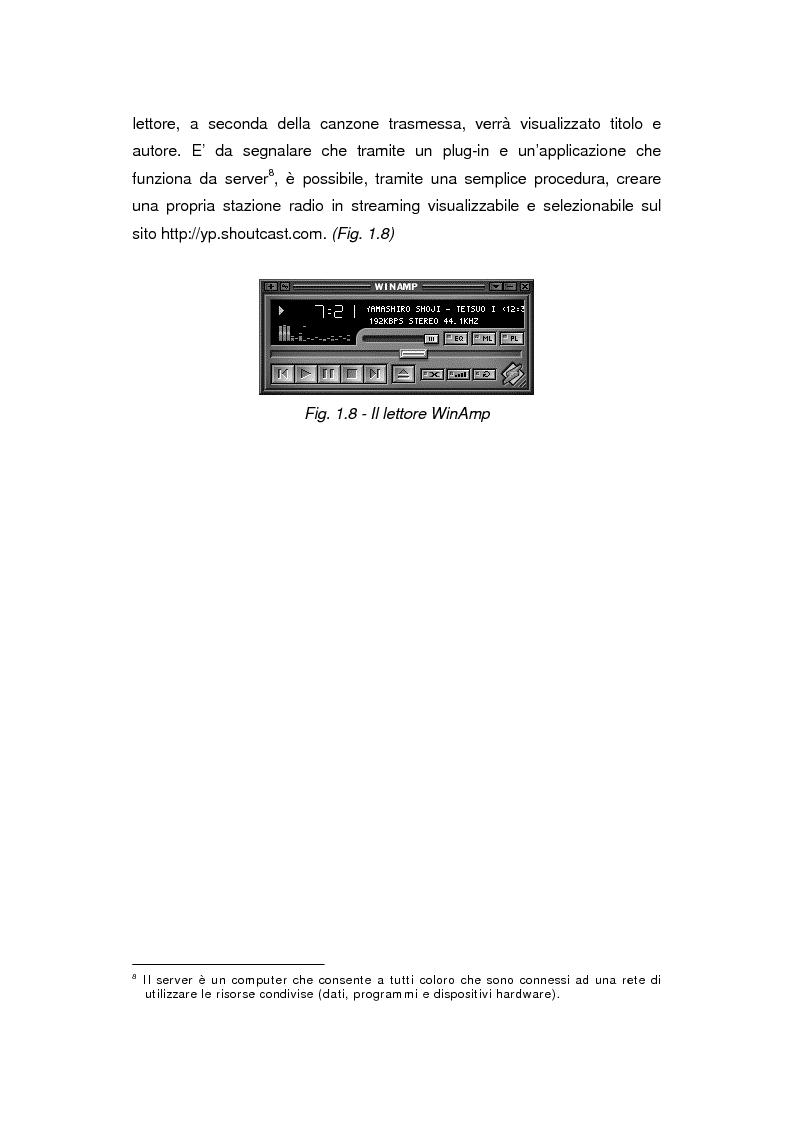 Anteprima della tesi: Comunicazione e gestione dei flussi audiovisivi digitali, Pagina 14