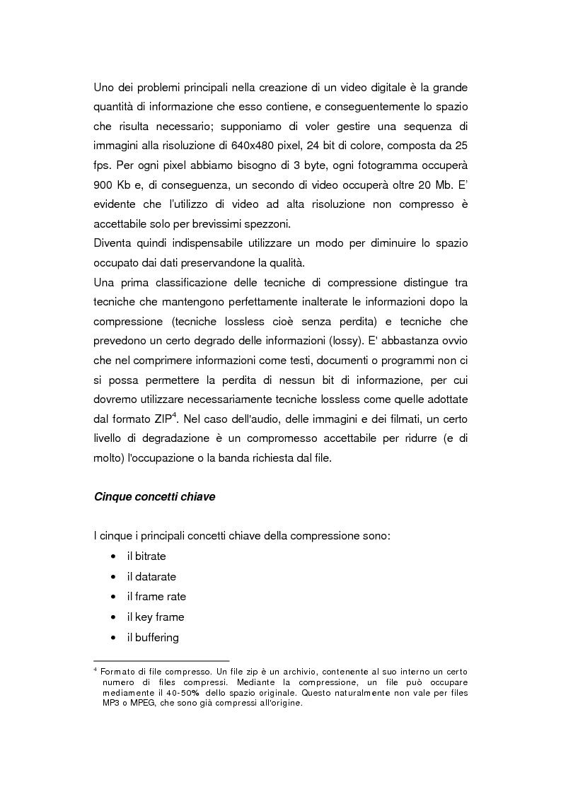 Anteprima della tesi: Comunicazione e gestione dei flussi audiovisivi digitali, Pagina 2