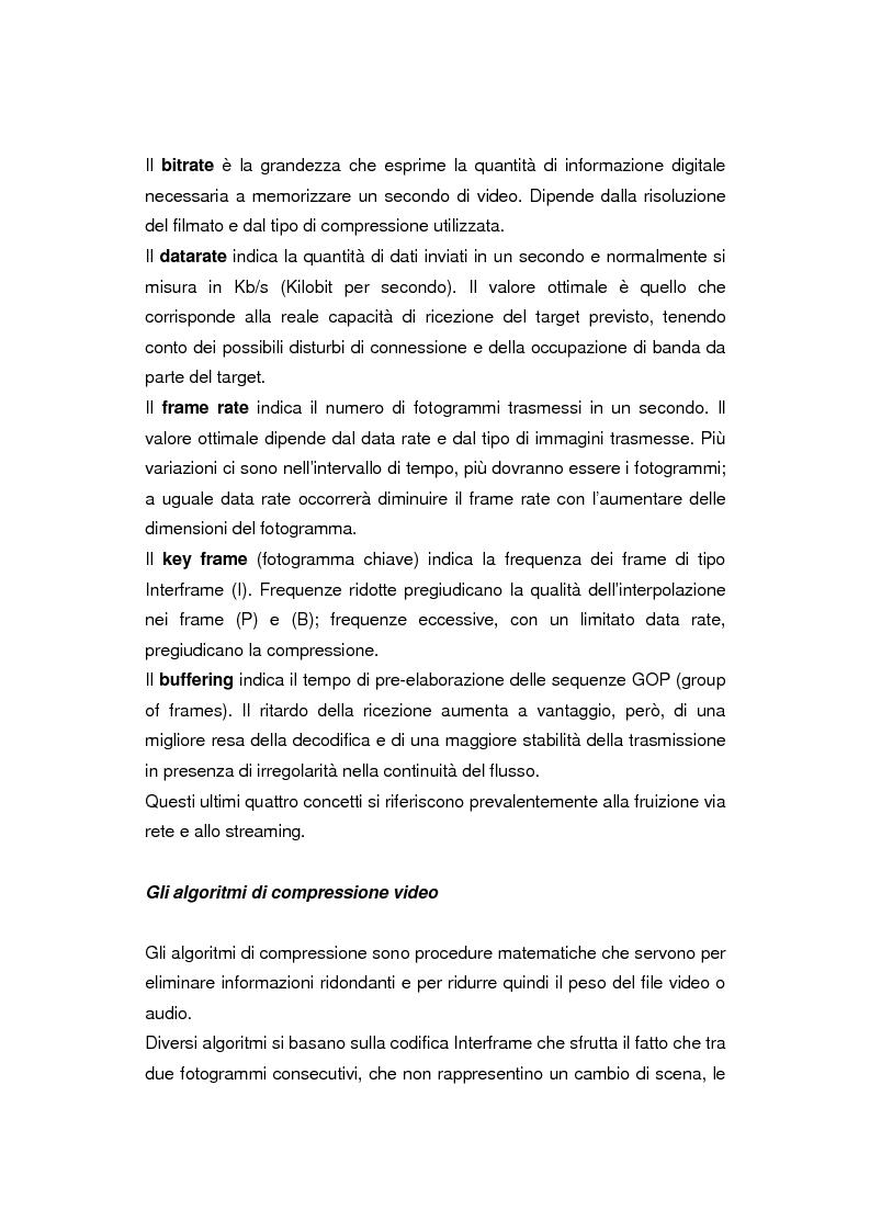 Anteprima della tesi: Comunicazione e gestione dei flussi audiovisivi digitali, Pagina 3