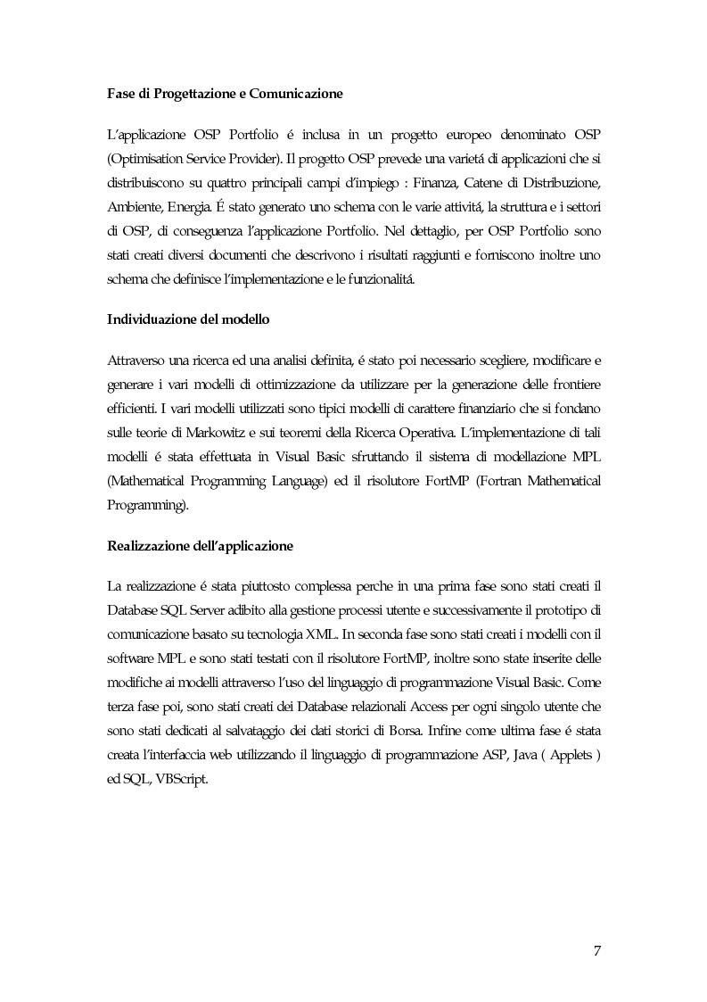 Anteprima della tesi: Sistema di gestione del portafoglio basato su architettura Application Service Provider, Pagina 2