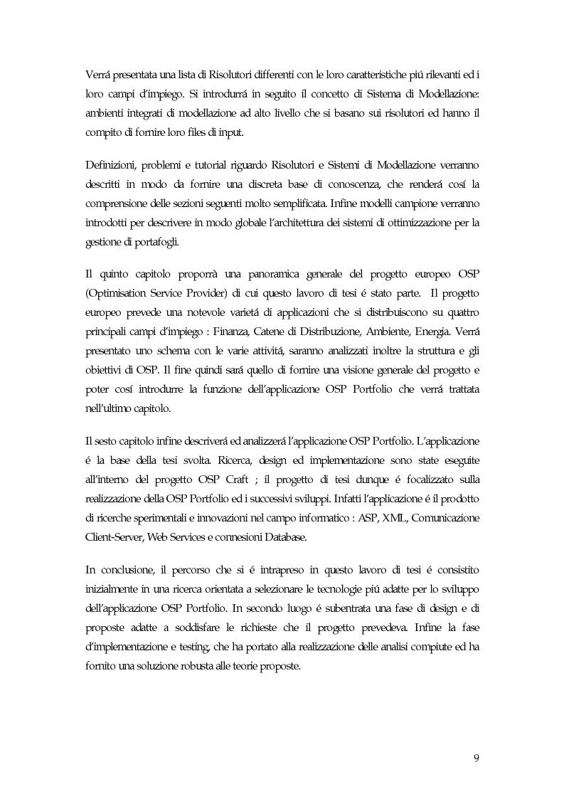 Anteprima della tesi: Sistema di gestione del portafoglio basato su architettura Application Service Provider, Pagina 4