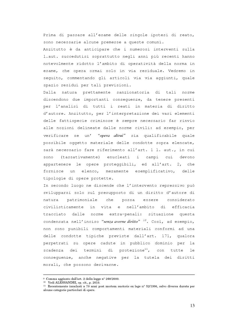 Anteprima della tesi: Responsabilità penale in materia di violazione del diritto d'autore, Pagina 12