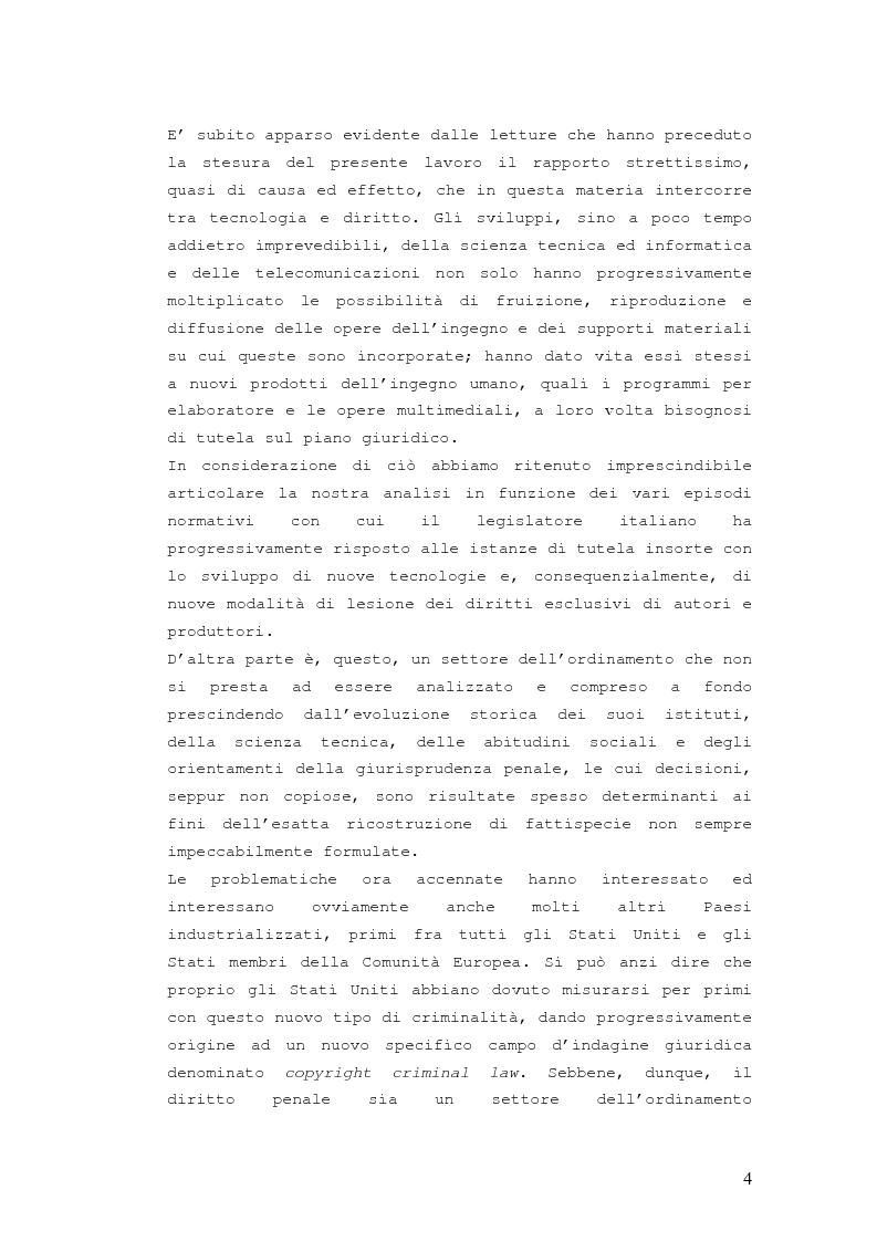 Anteprima della tesi: Responsabilità penale in materia di violazione del diritto d'autore, Pagina 3