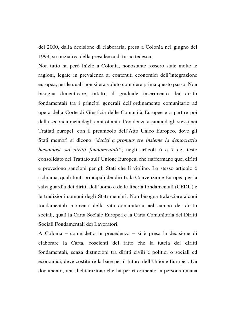 Anteprima della tesi: La Carta di Nizza e i rapporti di lavoro, Pagina 2