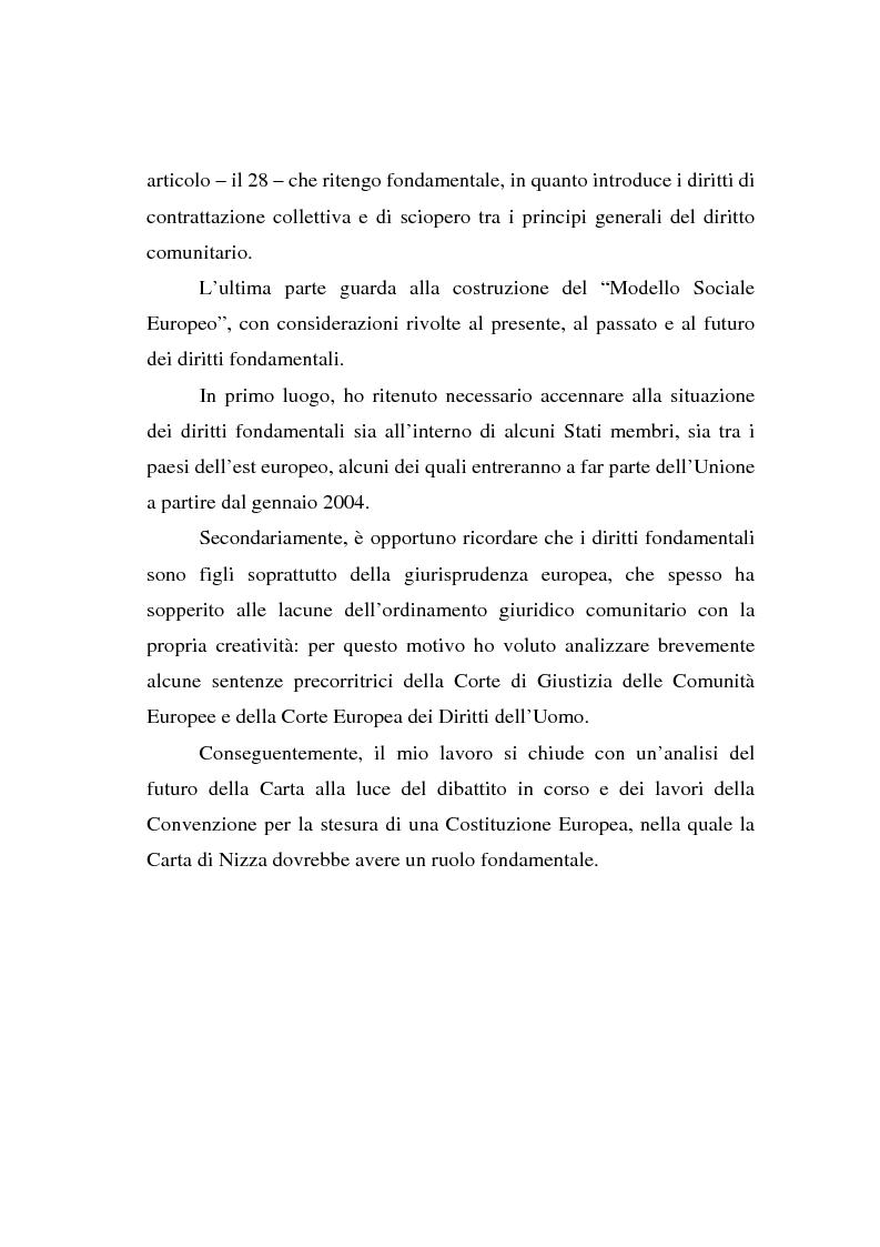 Anteprima della tesi: La Carta di Nizza e i rapporti di lavoro, Pagina 4