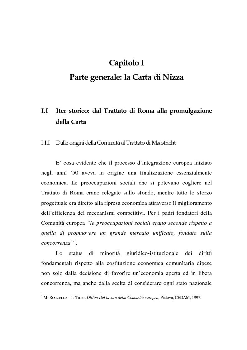 Anteprima della tesi: La Carta di Nizza e i rapporti di lavoro, Pagina 5