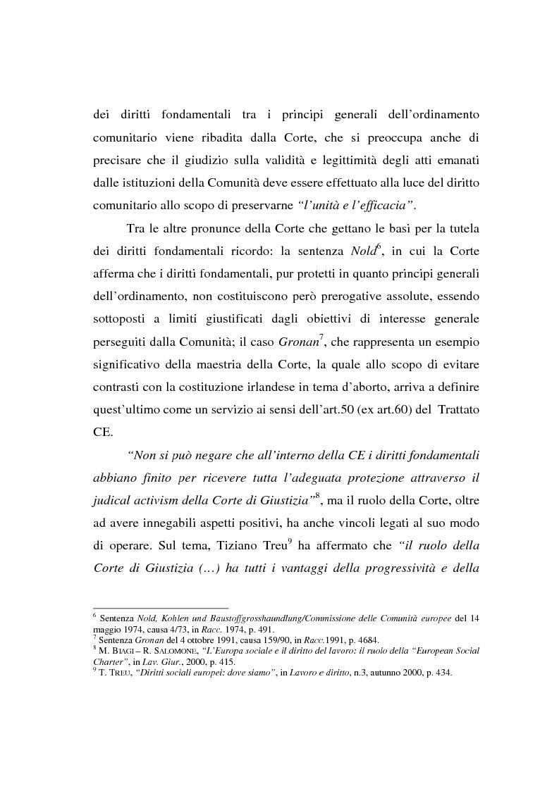 Anteprima della tesi: La Carta di Nizza e i rapporti di lavoro, Pagina 7