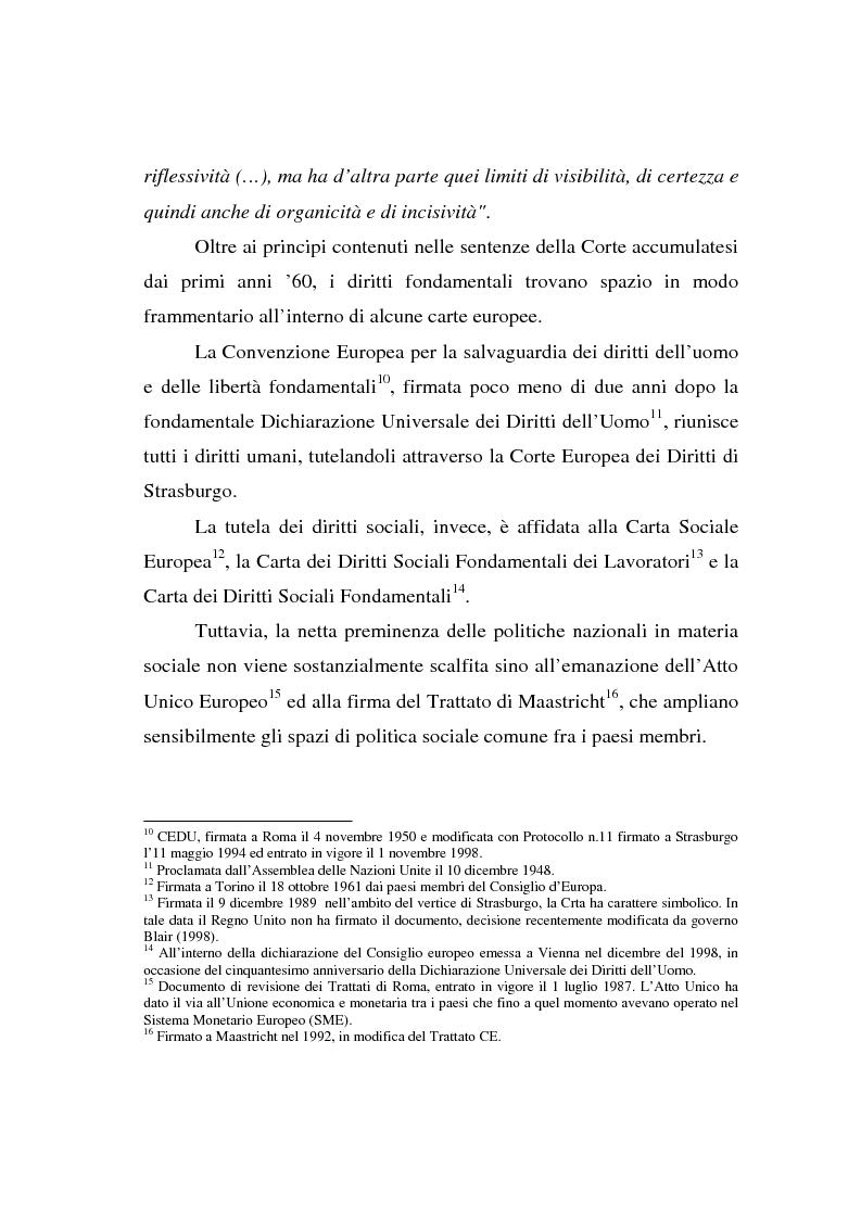 Anteprima della tesi: La Carta di Nizza e i rapporti di lavoro, Pagina 8