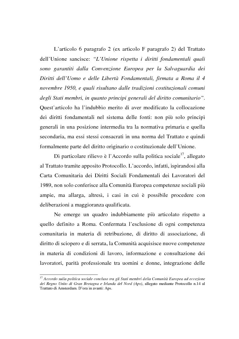 Anteprima della tesi: La Carta di Nizza e i rapporti di lavoro, Pagina 9