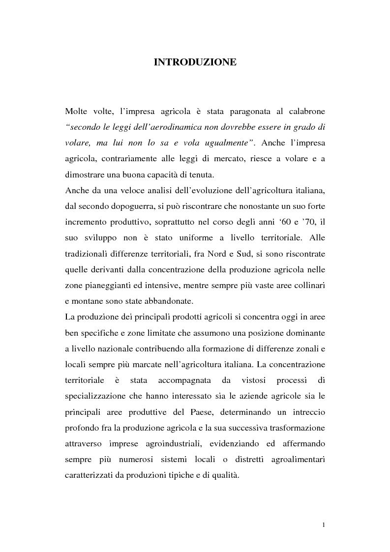 Anteprima della tesi: Profili di gestione finanziaria delle imprese agricole, Pagina 1