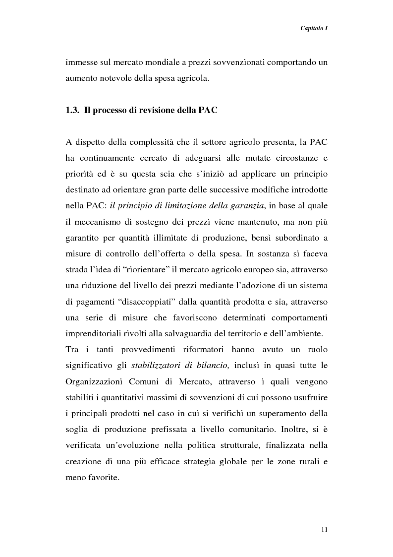 Anteprima della tesi: Profili di gestione finanziaria delle imprese agricole, Pagina 11