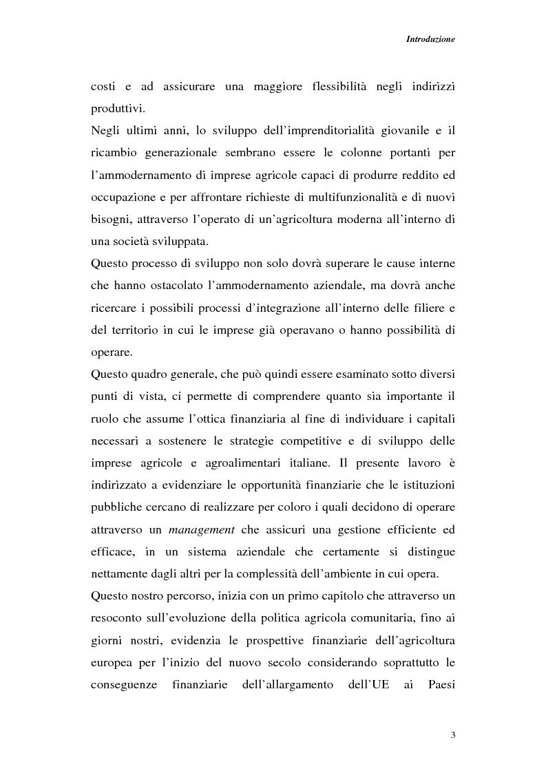 Anteprima della tesi: Profili di gestione finanziaria delle imprese agricole, Pagina 3