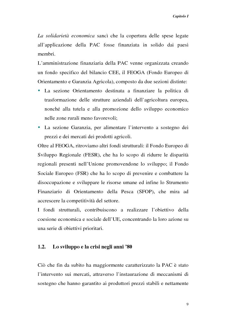 Anteprima della tesi: Profili di gestione finanziaria delle imprese agricole, Pagina 9